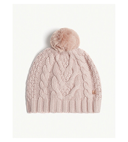 TED BAKER - Quirsa cable knit beanie  38972d6635c