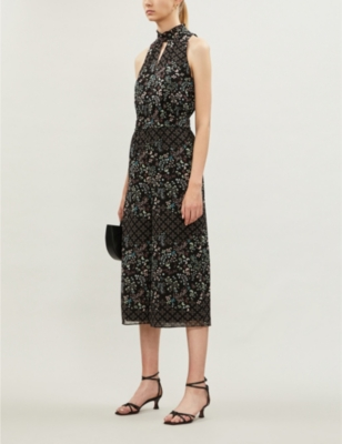 Hazel high-neck floral-print crepe jumpsuit