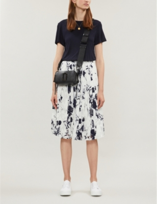 Bluebell Mockable contrast-skirt jersey and crepe dress