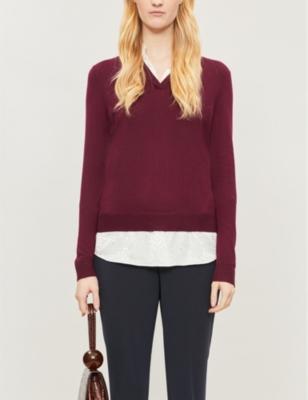 Mock-neck knitted jumper