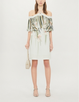 Piipper floral-print woven playsuit