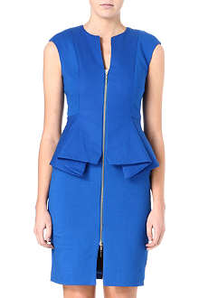 TED BAKER Structured zip detail dress