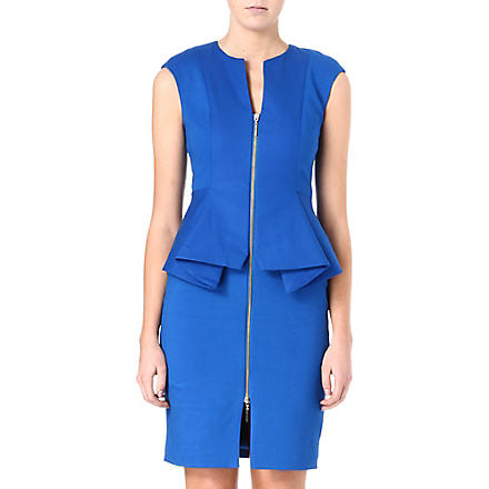 TED BAKER Structured zip detail dress (Blue