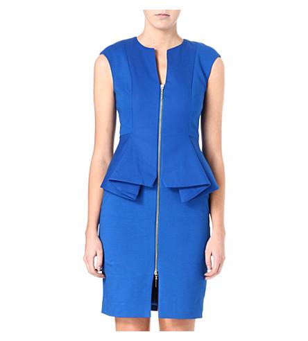 TED BAKER Structured zip detail dress (Blue