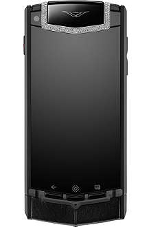 VERTU TI pure black diamonds mobile phone