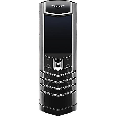 VERTU Signature stainless steel mobile phone (Ss, black leather