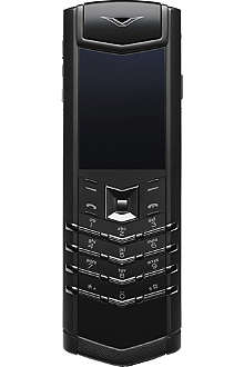 VERTU Signature pure black mobile phone
