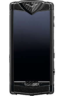 VERTU Constellation mobile phone in neon carbon fibre