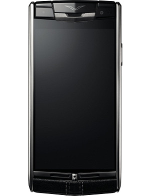 VERTU Signature Touch jet-leather mobile phone