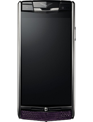 VERTU Damson Signature Touch lizard-skin mobile phone
