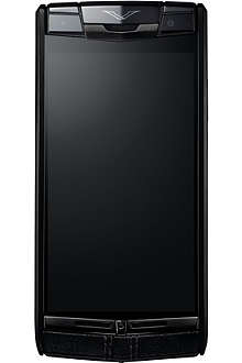 VERTU Signature Touch pure-jet calf-leather mobile phone