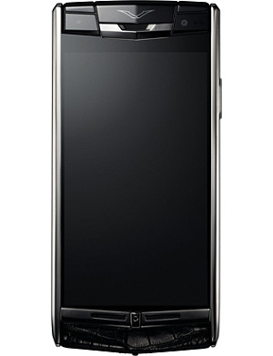 VERTU Signature Touch jet alligator-skin mobile phone