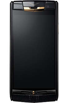 VERTU Signature Touch rose-gold and calf-leather mobile phone