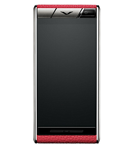 VERTU Aster blush leather and titanium mobile phone (Blush