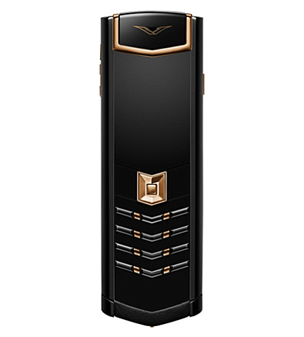 VERTU Signature 18ct red gold and stainless steel mobile phone (Black