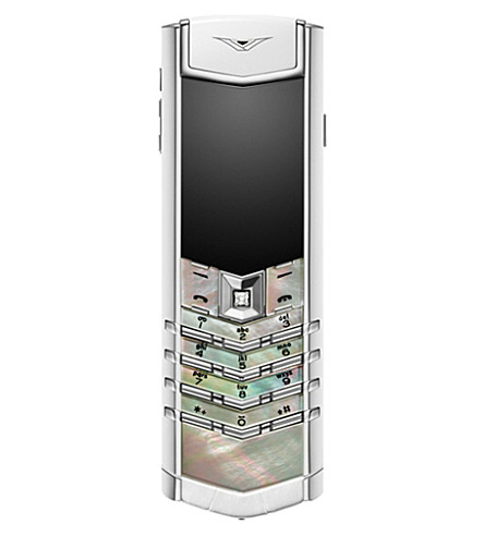 VERTU Signature mother-of-pearl mobile phone (White