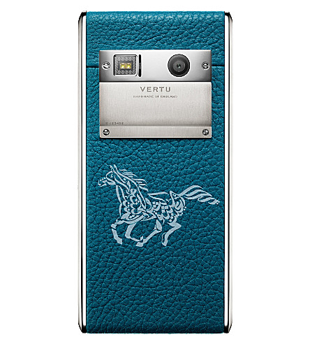 VERTU Aster Calligraphy Lagoon calf leather (Lagoon