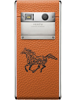 VERTU Aster Calligraphy Orange calf leather