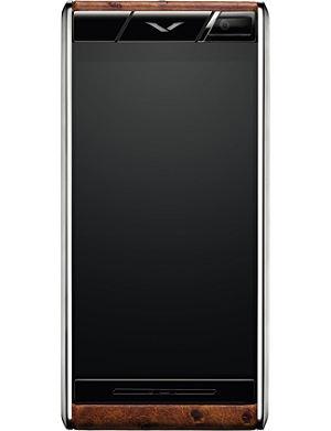 VERTU Aster Cognac ostrich-skin mobile phone