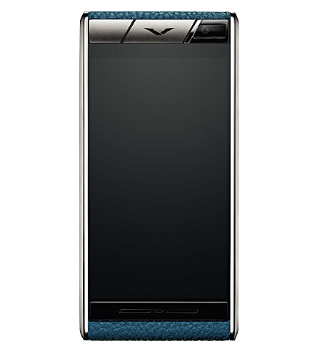 VERTU Aster Lagoon calf-leather mobile phone