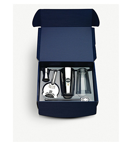 ALESSI Boston cocktail shaker gift set