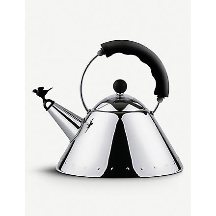 ALESSI Kettle with bird-shaped whistle (Black