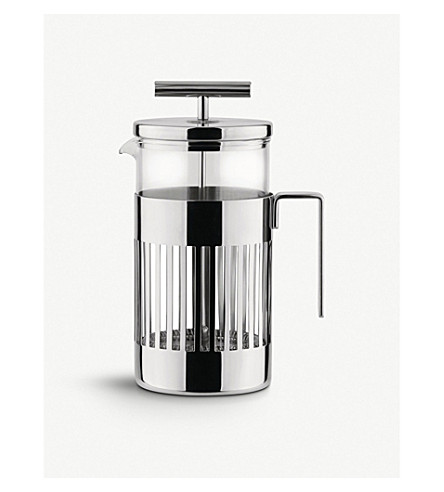 ALESSI Three-cup press filter coffee maker