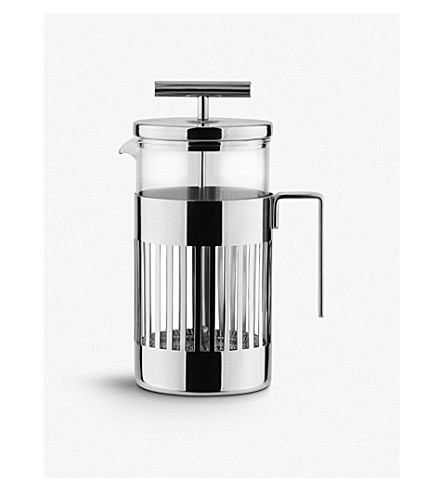 ALESSI Eight-cup press filter coffee maker