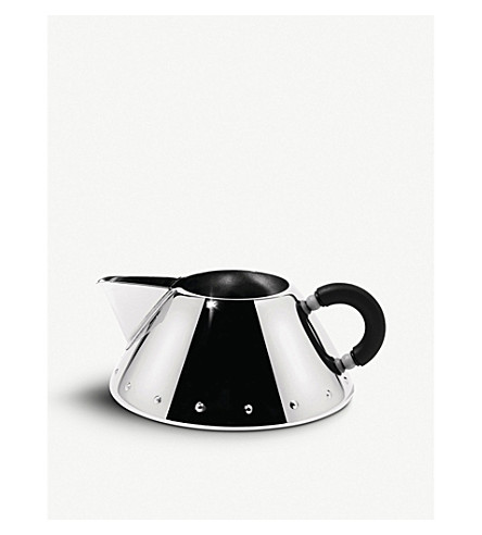 ALESSI Stainless steel creamer (Black