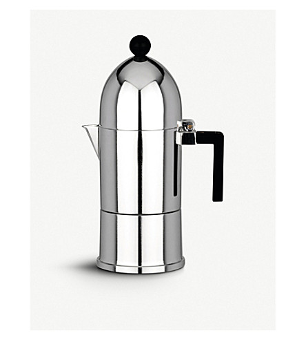 ALESSI La Cupola three-cup espresso coffee maker (Black