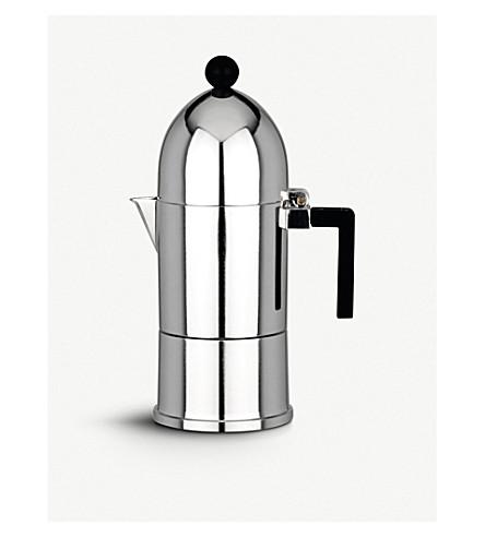 ALESSI La 冲天炉三杯咖啡咖啡壶 (黑色