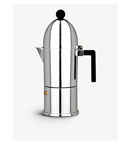 ALESSI La Cupola six-cup espresso coffee maker (Black