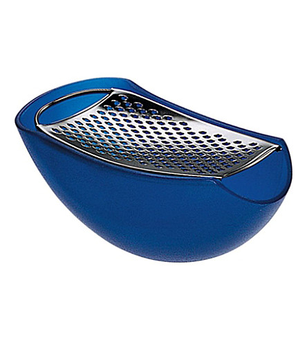 ALESSI Parmenide grater with cheese cellar (Azzurro