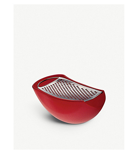 ALESSI Parmenide grater with cheese cellar (Red