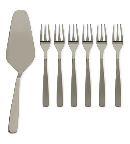 ALESSI Knifeforkspoon seven piece set