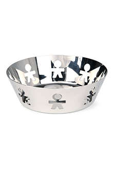 ALESSI Girotondo stainless steel basket 18cm