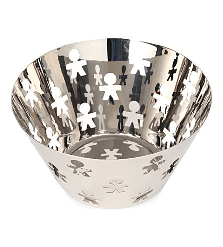 ALESSI Girotondo stainless steel fruit holder