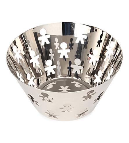 ALESSI Girotondo stainless steel fruit holder
