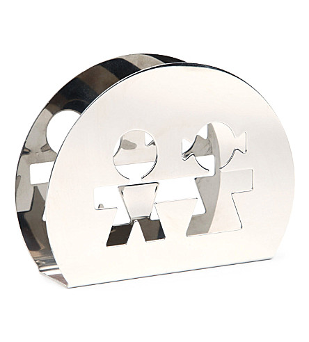 ALESSI Girotondo stainless steel napkin holder