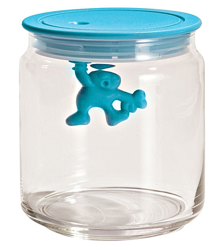 ALESSI Gianni 70cl glass container (Azzurro