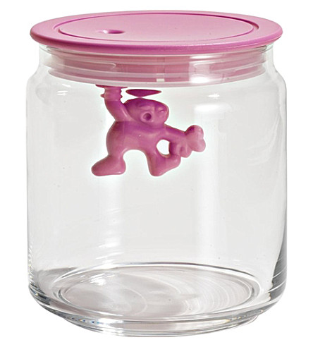 ALESSI Gianni 70cl glass container (Pink