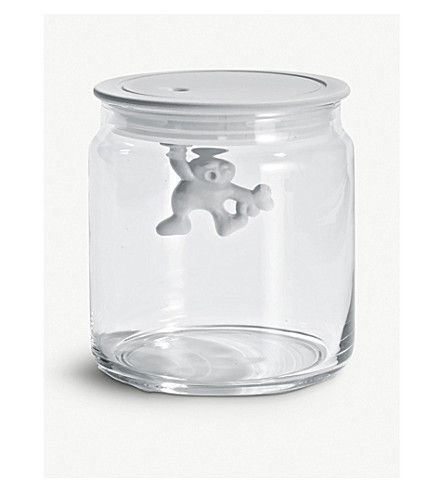 ALESSI Gianni 70cl glass container (White