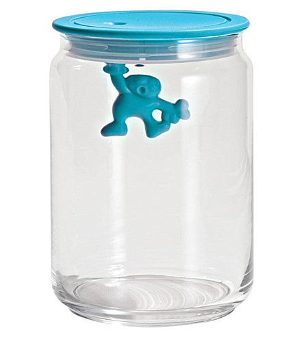 ALESSI Gianni 90cl glass container (Azzurro