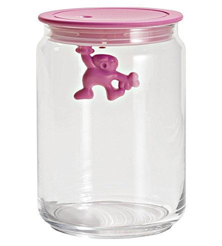 ALESSI Gianni 90cl glass container (Pink