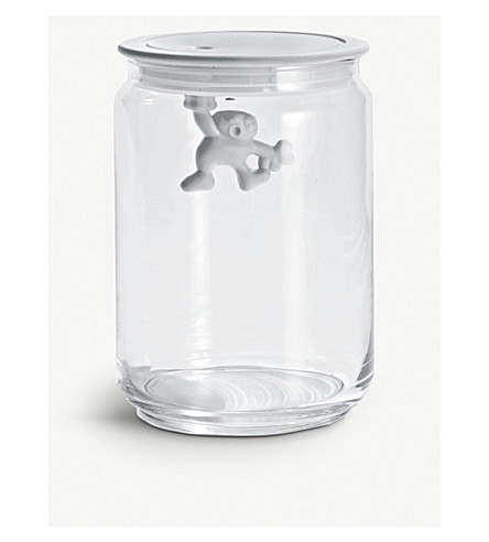ALESSI Gianni 90cl glass container (White