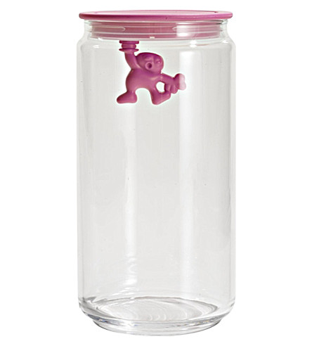 ALESSI Gianni 140cl glass container (Pink