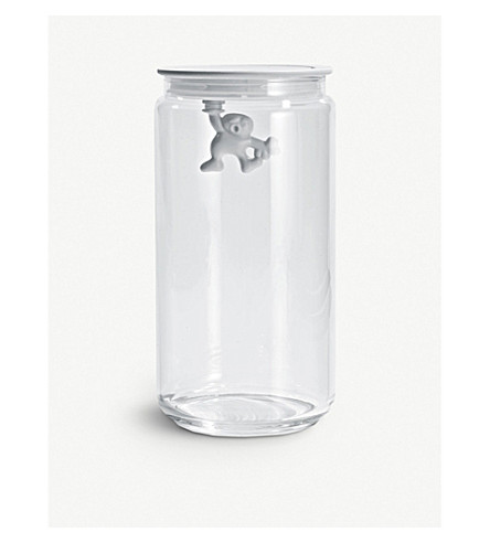 ALESSI Gianni 140cl glass container (White