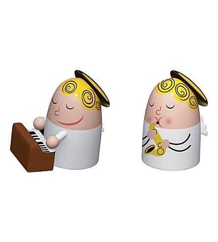 ALESSI Angels Band set of two porcelain figurines (Nocolor
