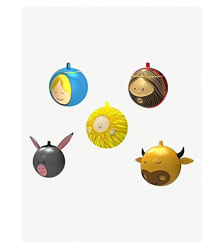 ALESSI Five-piece Christmas bauble set