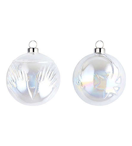 ALESSI Glass baubles set of two 6cm (Nocolor